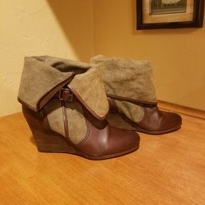 Frye Wedge boots size 7.5